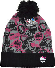 Monsters High Hat Girls Beanie Hat Winter Bobble Pom Pom Hat Ages 6 To 12 Years
