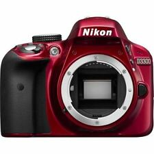 Nikon D3300 24.2 Megapixel Digital SLR Camera with Lens - 18 mm - 55 mm - Red -