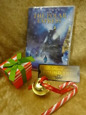 Polar Express Dvd Jingle Bell Train Ticket Candy Cane Gift Set Silver Or Gold