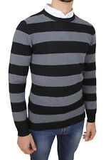 PULL HOMME COUPE SLIM GRIS NOIR HIVERNAL GOLFINO PULL CASUAL RAYÉ