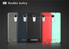 For Xiaomi Redmi Note 3 Exclusive Rugged Brushed Carbon Fiber Back Cover Case