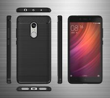 For Xiaomi Redmi Note 4 Exclusive Rugged Brushed Carbon Fiber Back Cover Case