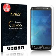 J&D Motorola Moto Z Droid [Tempered Glass] HD Clear Screen Protector