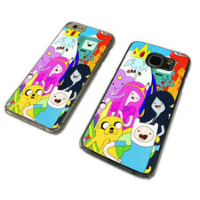 FUN ADVENTURE TIME SHOW CLEAR PHONE CASE COVER fits iPHONE / SAMSUNG (TH)