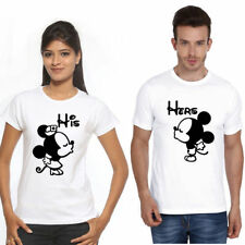 Mickey Mini Mouse Couple T Shirt for all hot & sexy Couples Polyester