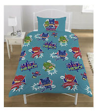 Children PJ Masks Its time to Be A Hero Print Reversible Single Duvet Bed Set
