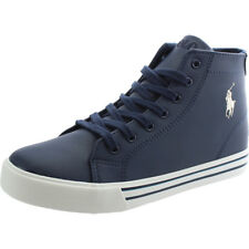 Polo Ralph Lauren Slater Mid Navy/Cream Synthetic Youth School Shoes