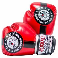 YOKKAO OFFICIAL FIGHT TEAM RED/BLACK MUAY THAI BOXING GLOVES