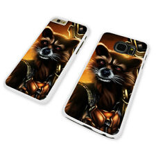 ROCKET RACCOON ARMOR WHITE PHONE CASE COVER fits iPHONE / SAMSUNG (WH)