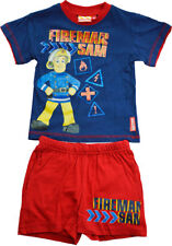 Boys - Fireman Sam 100% Cotton Short Sleeve Shorty Pyjama Set