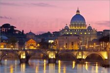 Stampa su tela Ponte Sant'Angelo and St. Peter's Basilica - Brian Jannsen