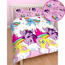 Girls My Little Pony Equestria Reversible Rotary Double Duvet Quilt Bedding Set