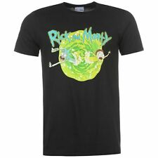 MENS OFFICIALLY LICENSED BLACK RICK AND MORTY PORTAL TEE SHIRT T-SHIRT