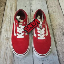 d722ab755e5530 Vans Boys Milton Suede Trainer Red kids UK 13 (3097684 loc R7) C