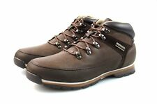 Mens Brown Hiking Boots Faux Leather Outdoor Hiking Walking All Sizes