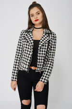 NEW LADIES WOMENS SIDE ZIP FASTENING POINTED COLLAR JACKET - S M L XL