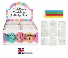 Kids WEDDING ACTIVITY PACK Birthday Party Bag Filler Favors Loot Toy Gift New UK
