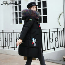Women Coat Jacket Winter Thick Warm Parka Fur Outwear Fashion Long Overcoat Slim