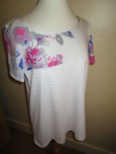 JOULES New Suzy Viscose Pretty Floral Floaty T-shirt Top Sz 12 £29.95 FreeUKP&P