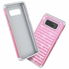 Samsung Galaxy Note 8 Case Bling Diamond Sparkly Shock Absorbing Cover 2017 Pink