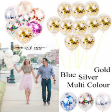 "12"" Confetti Filled Balloons Happy Birthday Wedding Party Christmas Decoration"