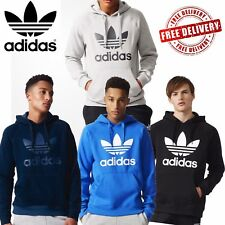 Adidas Original Mens Trefoil Hoodie Cloverleaf Logo Hoody Sweat Hooded Tops UK