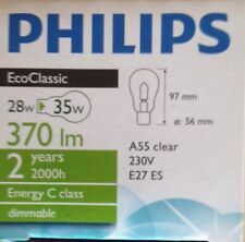 Philips EcoClassic Lampe 230V/E27/A55 klar,Halogenlampe 28W/370 lm + 42W/630 lm
