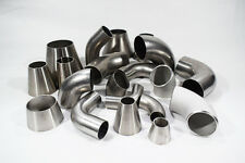 """38MM - 76MM TIGHT RADIUS 1D BENDS 45 90 DEGREE ANGLE EXHAUST MANIFOLD 1.5"""" TO 3"""""""