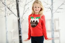 Kids Little Pudding Christmas Jumper Cute Festive Xmas Present Great Gift CS135