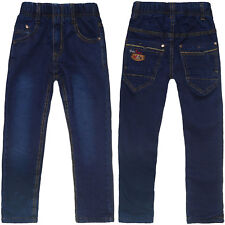 Jungen Kinder Winter Jeanshose Thermojeans Thermohose Stretch Jeans Hose 21563