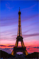 Poster Eiffel Tower at sunset