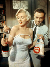 Stampa su legno THE SEVEN YEAR ITCH, from left: Marilyn Monroe, Tom Ewell
