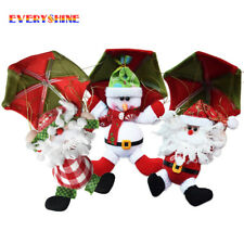 Hanging Santa Claus Snowman Parachute Christmas Tree Pendant Xmas Ornaments Kit