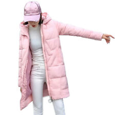 Women Down Loose Coat Parka Hooded Jacket Long Jackets Winter Warm Outwear Zip