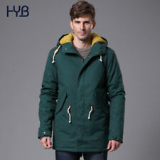 Men Parka Jacket Coat Winter Warm Men Slim Fur Casual Overcoat Hooded Outwear