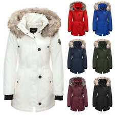 Only Damen Parka Winterjacke Kapuzenjacke Kurzmantel Übergangs & Wintermantel %