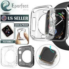 Apple Watch Series 3/2/1 Case Cover Protector TPU Rubber Bumper iWatch 38MM/42MM