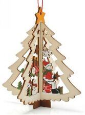 Delicate Wooden Christmas Tree Decoration - Star or Tree