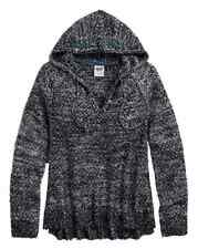 HARLEY-DAVIDSON - LADIES SHIMMER KNITTED HOODIE JUMPER TOP PULLOVER SWEATER