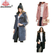 Women Fur Thick Long Jacket Winter Coat Warm Faux Outwear Parka Overcoat Fox Top