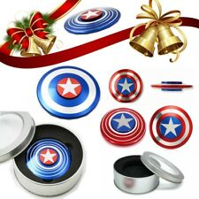 USA Stock Captain America Shield Metal Hand Fidget Spinner Focus Toy EDC Kids
