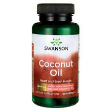 100% Swanson EFAs Certified Organic Coconut Oil Quantity 1,000mg, 60 Softgels