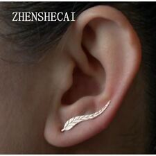Vintage Jewelry Gold Color Leaf Feather Earrings for women hot selling Lasting
