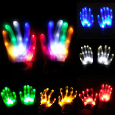 LED Flashing Finger Light Up Handschuhe Weihnachten Rave Party Halloween XMAS