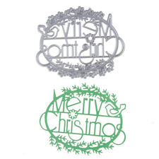 1PC METALLO NATALE fustelle STAMPO SCRAPBOOKING ALBUM CARTA CARTONCINO REGALO
