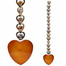 15 Hearts Feng Shui Crystal Window Decoration - Orange or Clear - 20 cm Gift Box