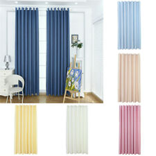 Solid Lined Grommet Top Window Curtain Panel Kitchen Blackout Blind 55''x96''