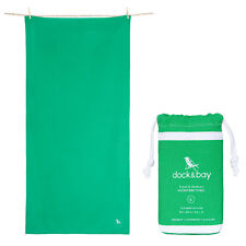 Microfiber Towel & Travel Towel - Green, Large & XL, includes travel pouch
