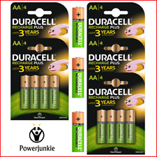 Duracell AA Rechargeable Batteries NiMH 1300mAh Stay Charge HR6 HR06 **NEW**