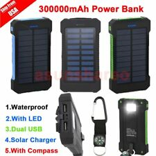 300000mAh Dual USB Portable Solar Battery Charger Solar Power Bank For Phone DE